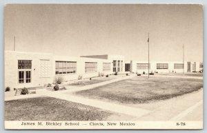 Clovis New Mexico~James M Bickley School~Spanish Art Deco Architecture~B&W 1964