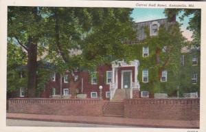 Maryland Annapolis Carvel Hall Hotel Curteich