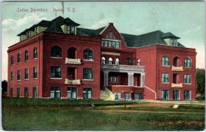 HURON, SD South Dakota  LADIES DORMITORY Huron University?  c1910s  Postcard