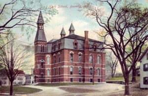 pre-1907 HIGH SCHOOL, BEVERLY, MA. 1906