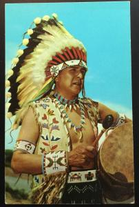 Postcard Unused Blue Sky Eagle Pueblo Indian NM LB