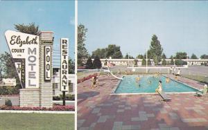 LONDON, Ontario, Canada, 1940-1960´s; Elizabeth Court Motel LTD., Swimming P...