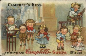 Campbell's Soup Kids #1 in Series c1910 Postcard