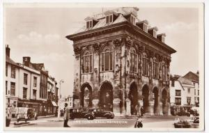 Berkshire; Abingdon, The Town Hall RP PPC, 1956 Local PMK To Miss Hopper, Dover