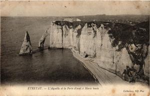 CPA ETRETAT-L'Aiguille et la Porte d'aval a Marée haute (347738)