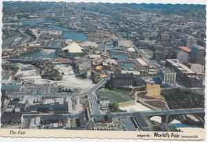 The Fair, Helicopter view, expo 74 World's Fair, Spokane, USA, Postcard