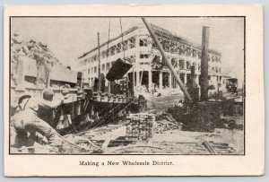 San Francisco~Workers at Wholesale District~Brick Layer~1906 Sunday Examiner PC