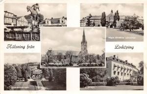 LINOPING SWEDEN MULTI PHOTO POSTCARD c1960s