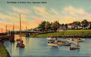 Maine Ogunquit Foot Bridge At Perkins Cove 1948
