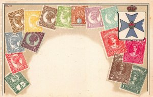 Queensland Stamps on Early Postcard, Unused, Published by Ottmar Zieher