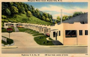 Bryson City, North Carolina - The Miagene Motor Court On U.S. Hwy 19 - c1940