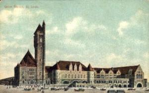 Union Depot, Kansas City, Missouri, MO, USA Railroad Train Depot Postcard Pos...