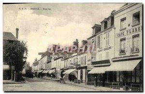 Old Postcard A Street Dozule