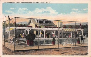 The Fairmont Pool, Tannersville, Catskill Mtns., New York, Early Postcard, Used