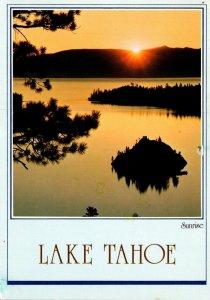 California Lake Tahoe Emerald Bay At Sunrise 1988