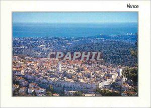 Modern Postcard Vence Alps March General view