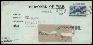 USA POW Camp Scottsbluff Nebraska 1944 WWII Germany Kriegsgefangenpost 911 81579