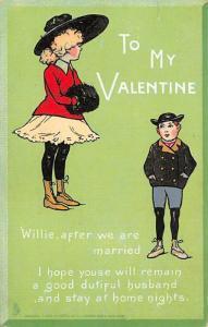 Valentines Day Postcard Non Postcard backing unused