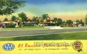 El Rancho Motor Lodge, St. Petersburg, FL, USA Motel Hotel Postcard Post Card...