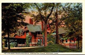 Connecticut Hartford The Late Mark Twain's Residence Farmongton Avenue C...
