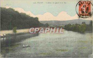 Old Postcard Vichy Allier Quays and the Islands