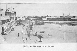 Yemen Aden Crescent & Harbour, Carriages, Animated, Ships, Port