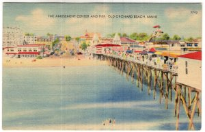 Old Orchard Beach, Maine, The Amusement Center And Pier