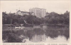 California Los Angeles Beautiful West Lake Showing Ansonia Apartments