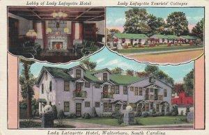 WALTERBORO, South Carolina, 1910-20s ; Lady Lafayette Hotel, 3-views
