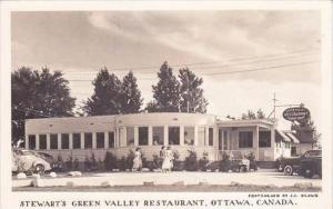 Canada Ontario Ottawa Stewarts Green Valley Restaurant Real Photo RPPC