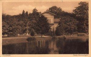 Netherlands Dordrecht Park 1944 Postcard