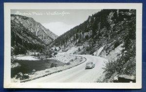 Washington State Stevens Pass highway 1930s auto real photo postcard RPPC