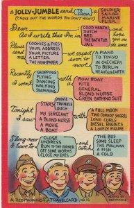 Military comic ; Reg Manning TRAVELCARD , 30-40s