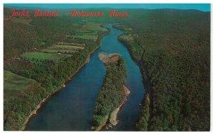 Postcard Tocks Island Delaware River Pocono Mountains, Pennsylvania & New Jersey