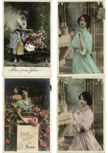 FEMMES LADIES GLAMOUR REAL PHOTO lot of 900 CPA Pre-1940 Part 2. (L2449)