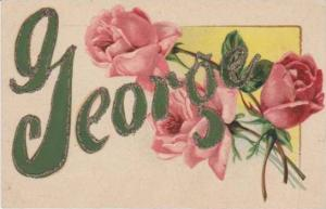 George Trimmed in Glitter w/ Pink Roses ,1900-10s