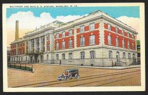 Baltimore & Ohio RR Station Wheeling West Virginia Unused c1920s