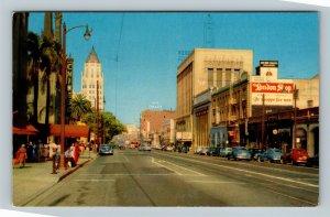 Hollywood CA, Moulin Rouge, Chrome California Postcard