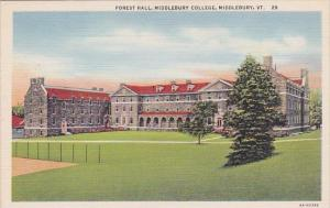Vermont Middlebury Forest Hall Middlebury College
