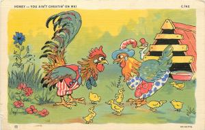 C T RURAL COMICS Ray Walters CHICKENS HONEY YOU AIN'T CHEATIN' ON ME POSTCARD