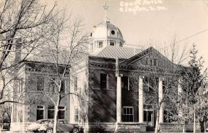 Clayton New Mexico Court House Real Photo Antique Postcard J66736