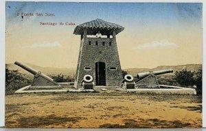 Cuba Fuerte San Juan, Santiago de Cuba Antique Postcard K1
