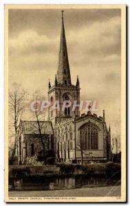 Postcard Old Holy Trinity Church Stratford Upon Avon