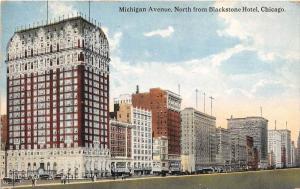 Illinois  Chicago, Michigan Avenue, North from Blackstone Hotel