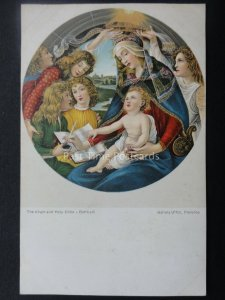 THE VIRGIN AND HOLY CHILD by Artist Botticelli c1909 Postcard by Misch & Co.1040