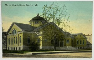 Old Divided Back Postcard M E Church South Mexico Missouri Unposted Unused