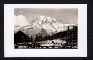 WA View Mt Rainier Paradise Valley Washington Real Photo Postcard RP RPPC