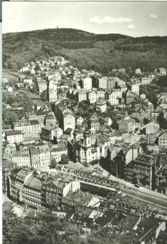 Czech Republic, Karlovy Vary, used real photo Postcard