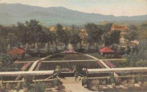 LP17  Antlers Hotel  Colorado Springs  Vintage Albertype Postcard Hand Colored