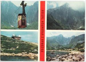 Slovakia, POZDRAV Z VYSOKYCH TATIER, used Postcard